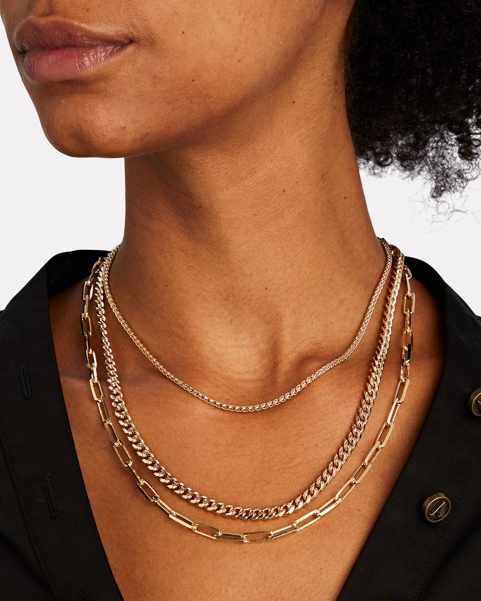 Versailles Layered Chain Necklace, GOLD, hi-res