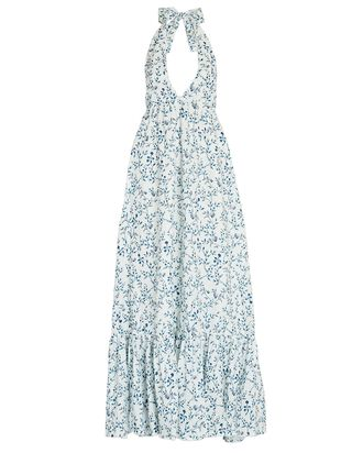 Olivia Floral Halter Maxi Dress, WHITE/BLUE, hi-res