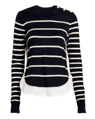 Ollie Sweater, NAVY/WHITE, hi-res
