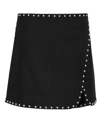 Studded Mini Skirt, BLACK, hi-res