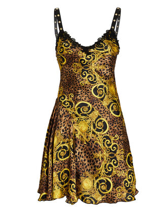 Baroque Leopard Slip Dress, MULTI, hi-res