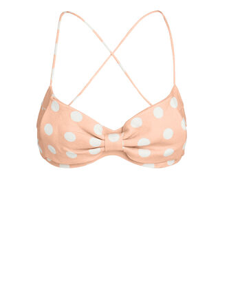 Corsage Polka Dot Bra Top, PINK/WHITE POLKA DOT, hi-res