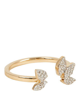 Pavé Diamond Cluster Ring, GOLD, hi-res