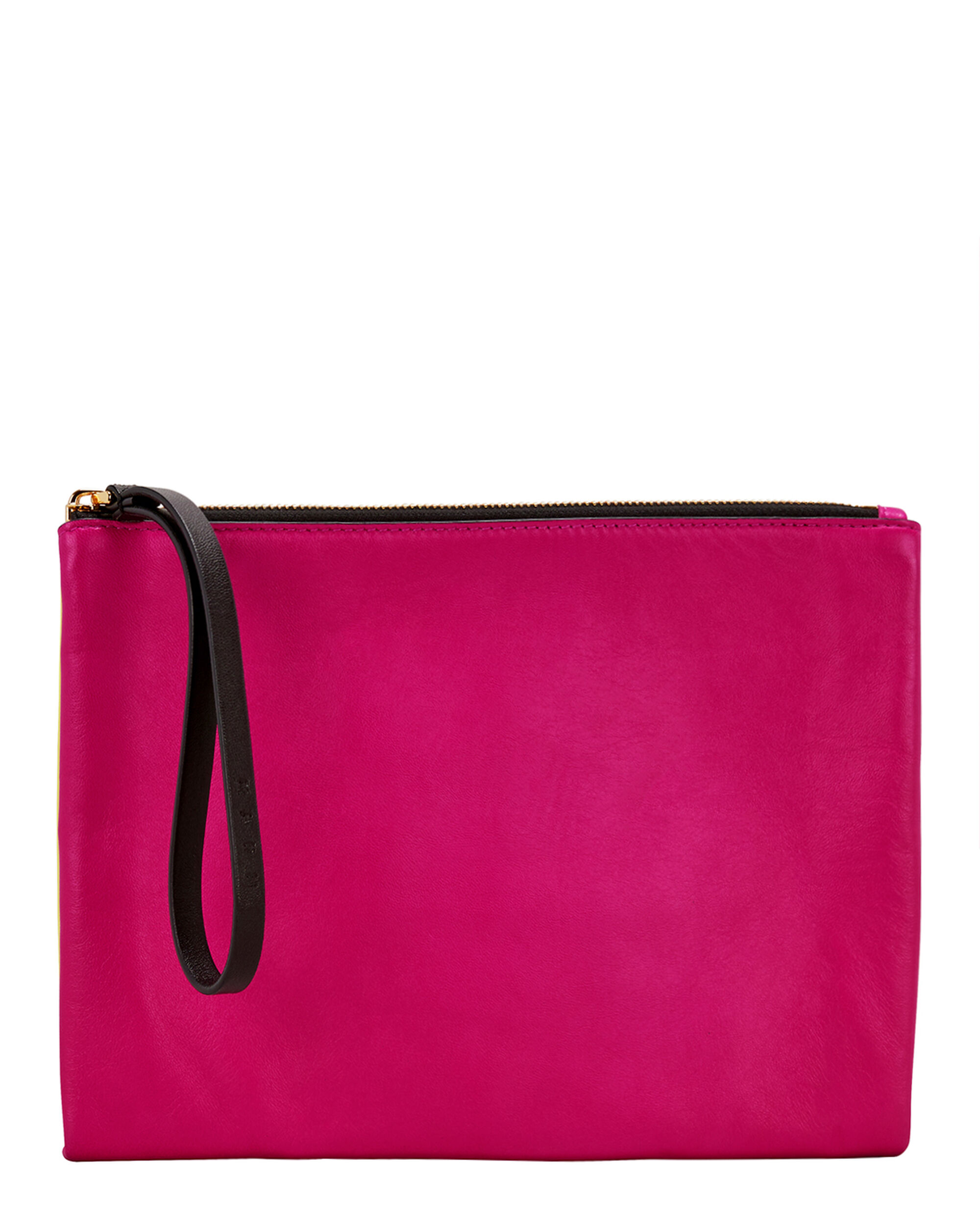 Pink And Yellow Wristlet Clutch, MULTI, hi-res