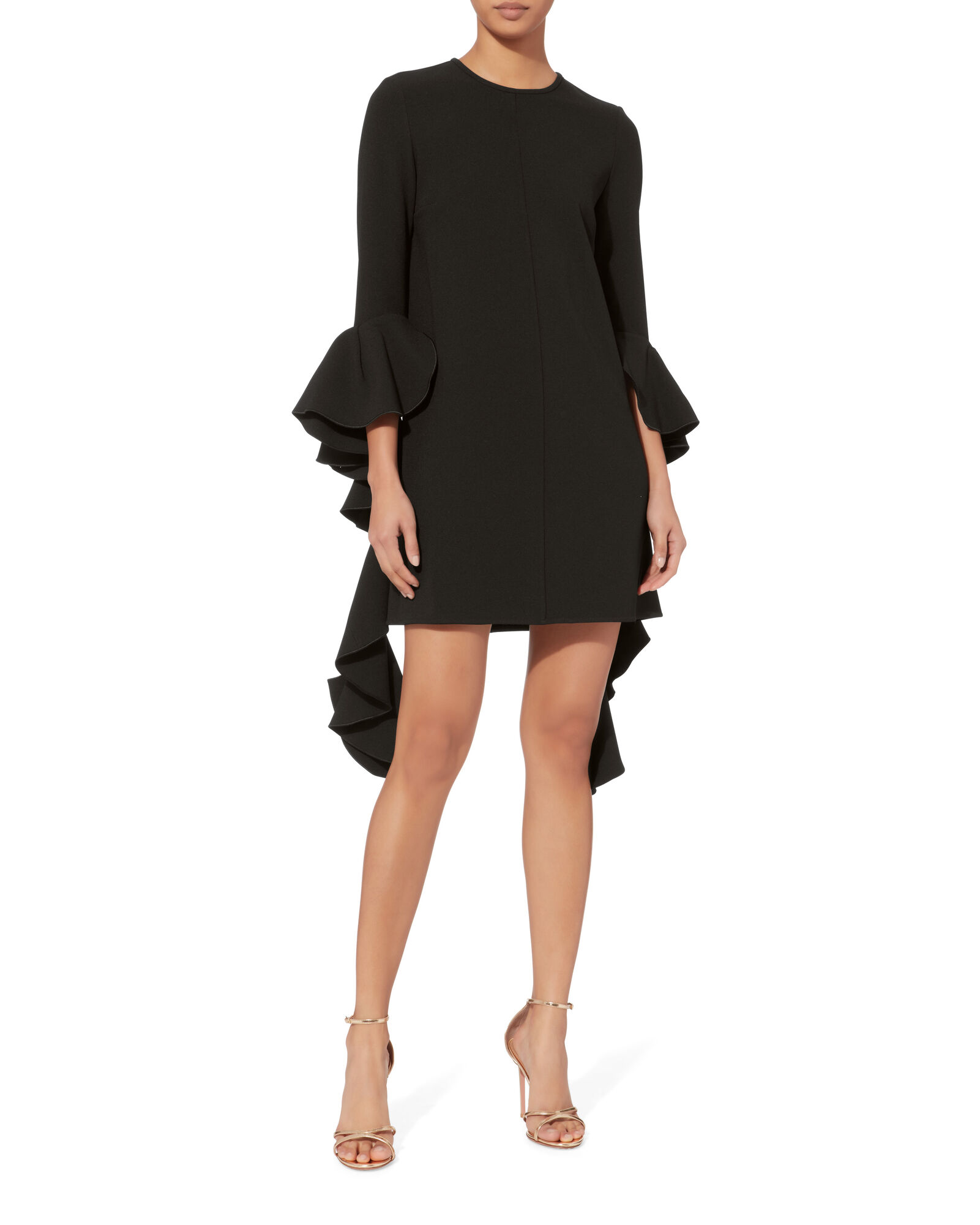 Kilkenny Black Mini Dress, BLACK, hi-res