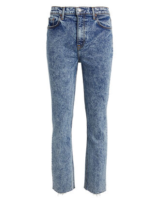 Reed High-Rise Straight Jeans, ACID WASH DENIM, hi-res