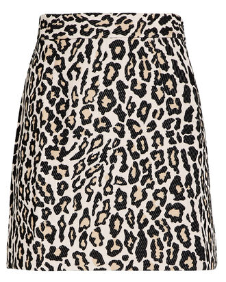 Ziggy Leopard Mini Skirt, MULTI, hi-res