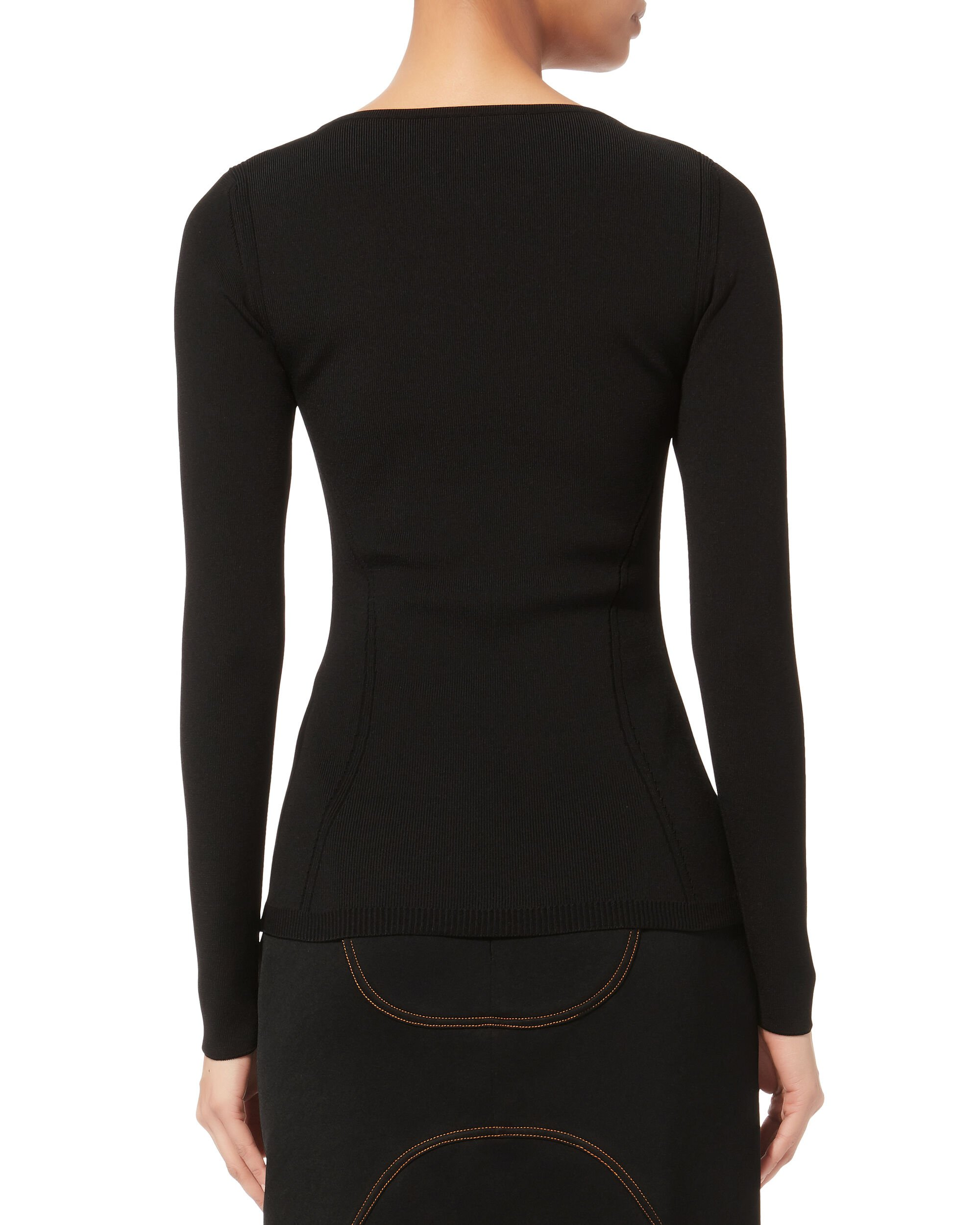 Bastia Cutout Top, BLACK, hi-res