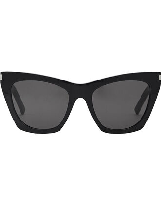 Square Cat Eye Sunglasses, BLACK, hi-res