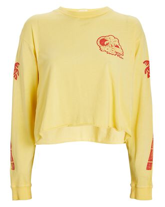 The Slouchie Long Sleeve T-Shirt, YELLOW, hi-res