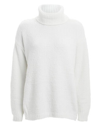 Chenille Roll Neck Sweater, CHALK, hi-res