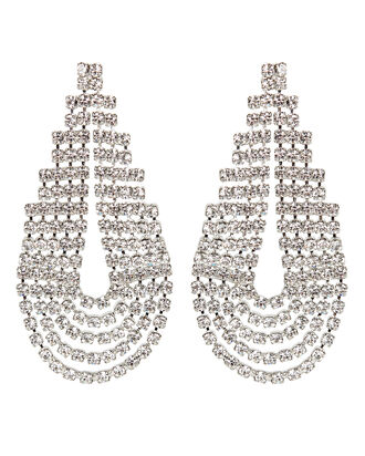West Crystal Statement Earrings, CLEAR, hi-res