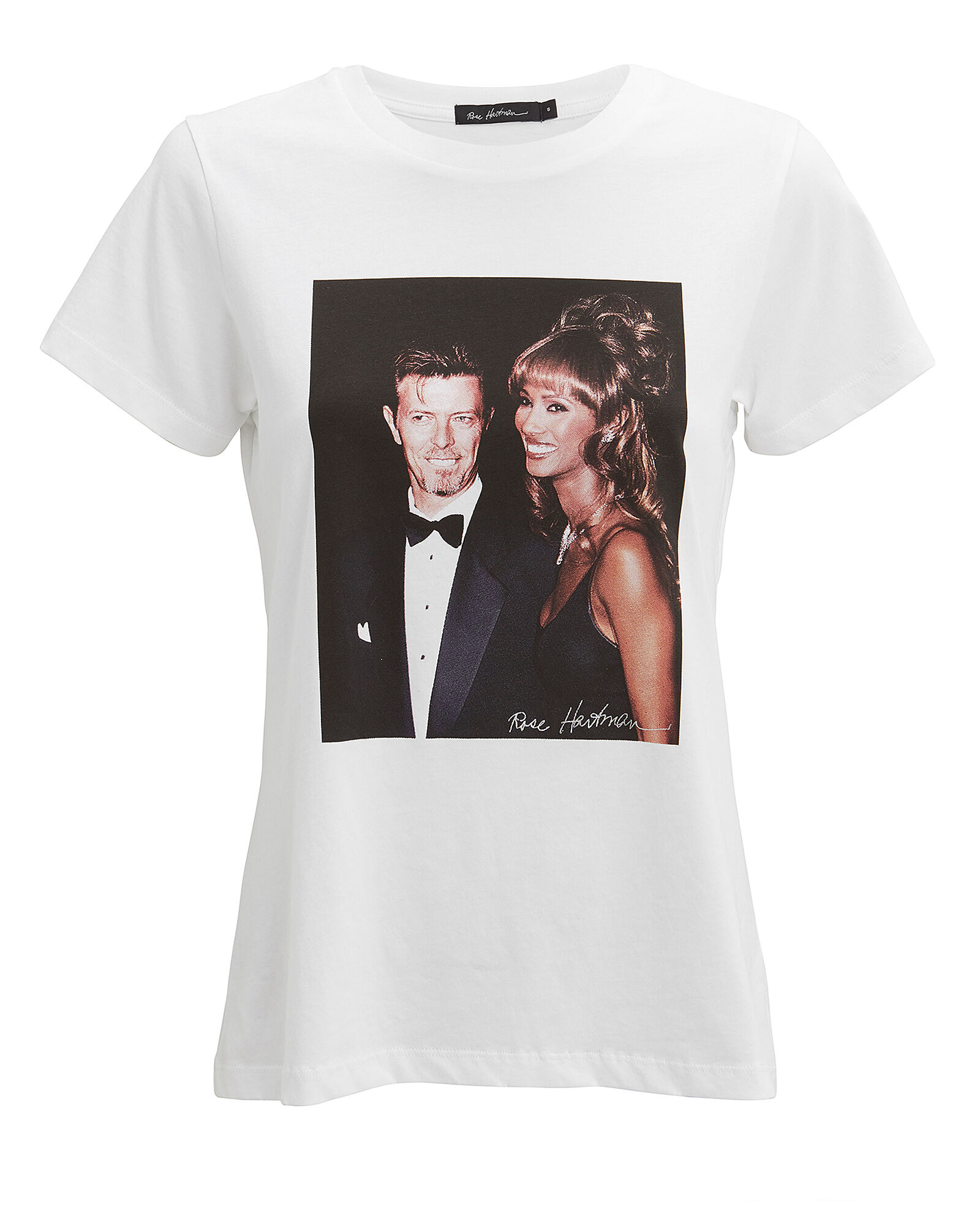 Bowie And Iman T-Shirt, WHITE, hi-res
