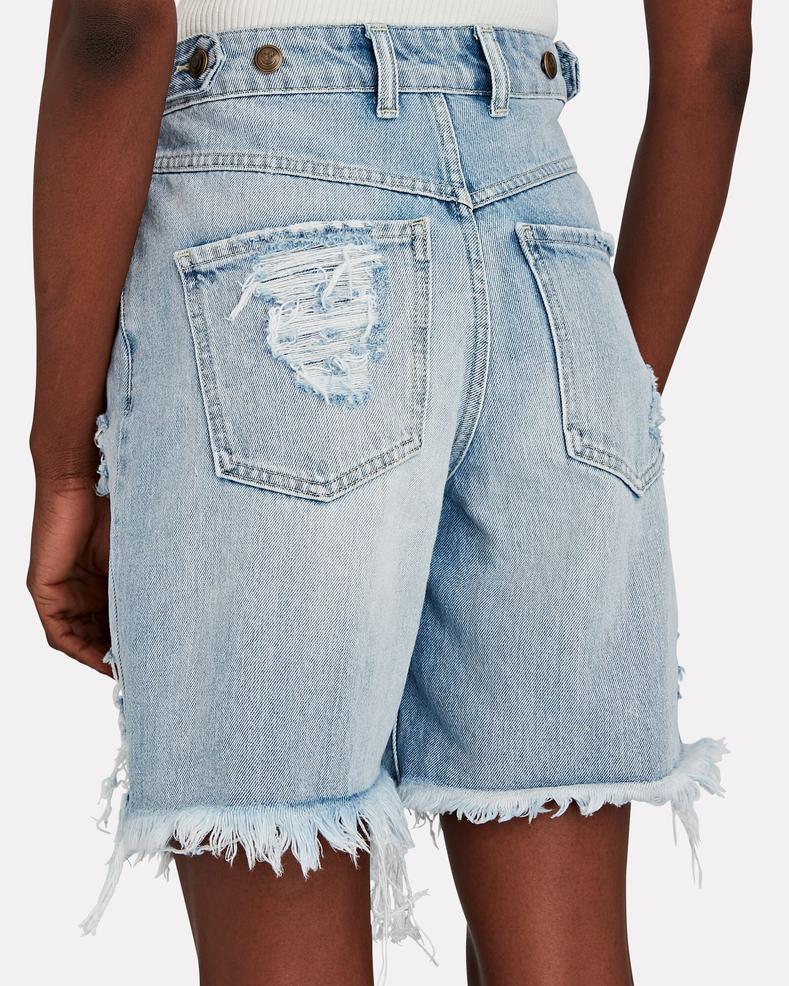 Sammy Distressed Denim Shorts, LAKEWOOD, hi-res