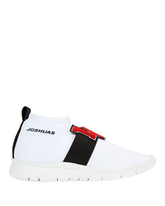 L.A. Low-Top Sock Sneakers, WHITE, hi-res