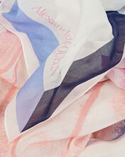 Rainbow Moth Silk-Cotton Scarf, IVORY/PINK, hi-res