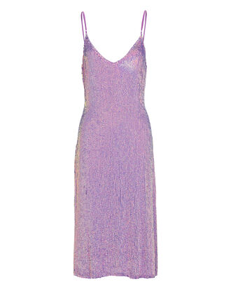 Denisa Sequin Slip Dress, PURPLE, hi-res