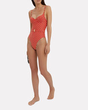 Danielle One Piece Swimsuit, RED, hi-res