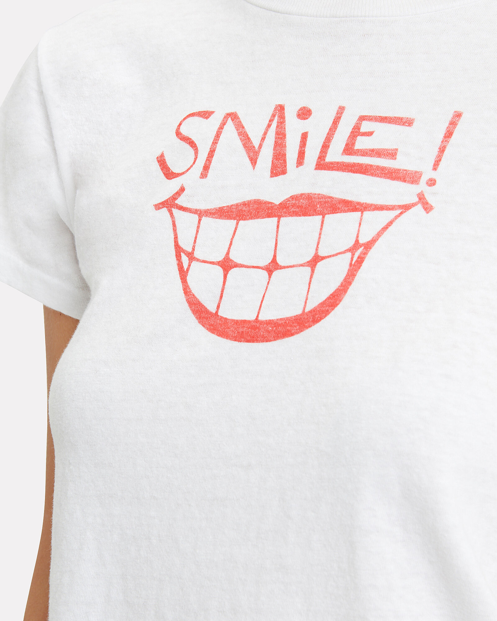 Classic Smile T-Shirt, WHITE/RED, hi-res