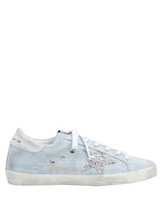 Superstar Denim Low-Top Sneakers, LIGHT BLUE DENIM, hi-res