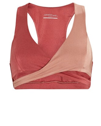 Ryder Colorblock Sport Bra, RED/BLUSH, hi-res