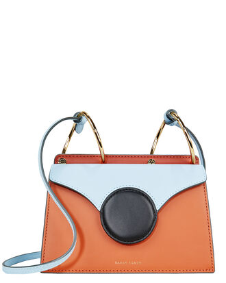 Mini Phoebe Crossbody Bag, ORANGE/BLUE, hi-res