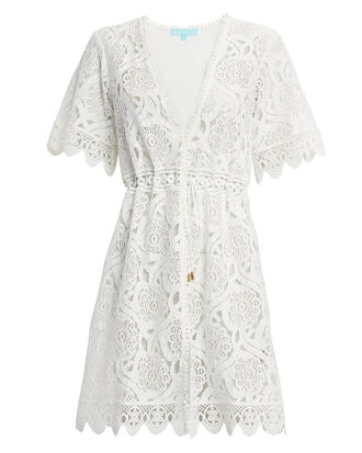 Barrie Cream Lace Coverup Mini Dress, IVORY, hi-res