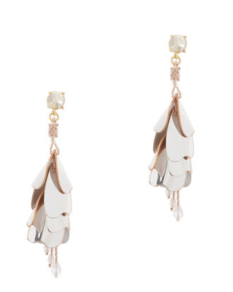 Waterfall Opaque Earrings, METALLIC, hi-res