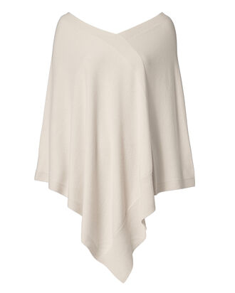Cashmere Poncho, IVORY, hi-res