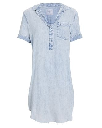 Valerie Chambray Mini Shirt Dress, BLUE-LT, hi-res