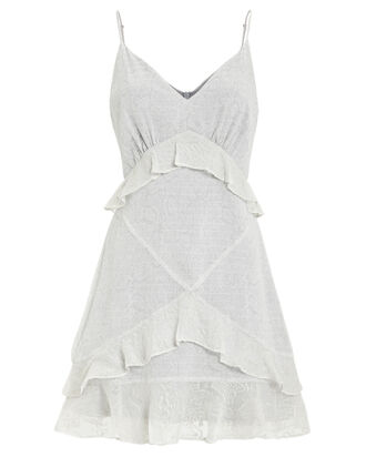 Yuki Ruffle Dress, SLATE GREY, hi-res