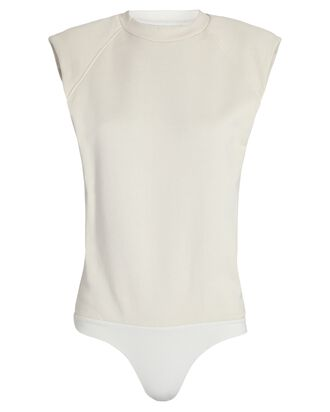 Channing Padded Shoulder Bodysuit, IVORY, hi-res