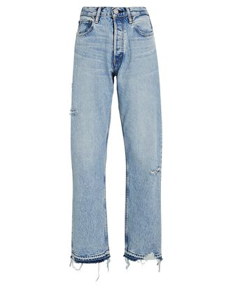Brookline Wide Straight-Leg Jeans, LIGHT WASH DENIM, hi-res