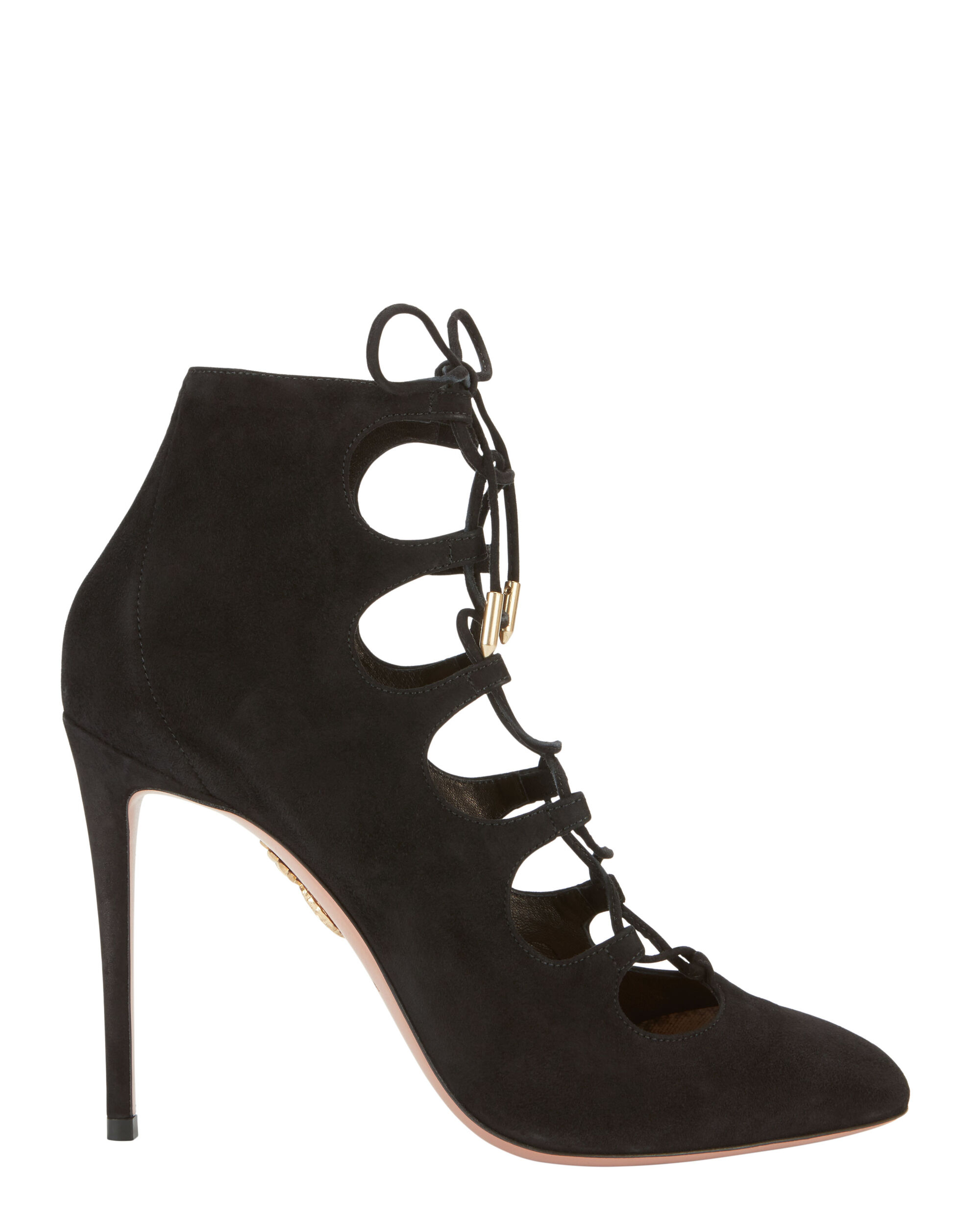 Flirt Lace-Up Booties, BLACK, hi-res