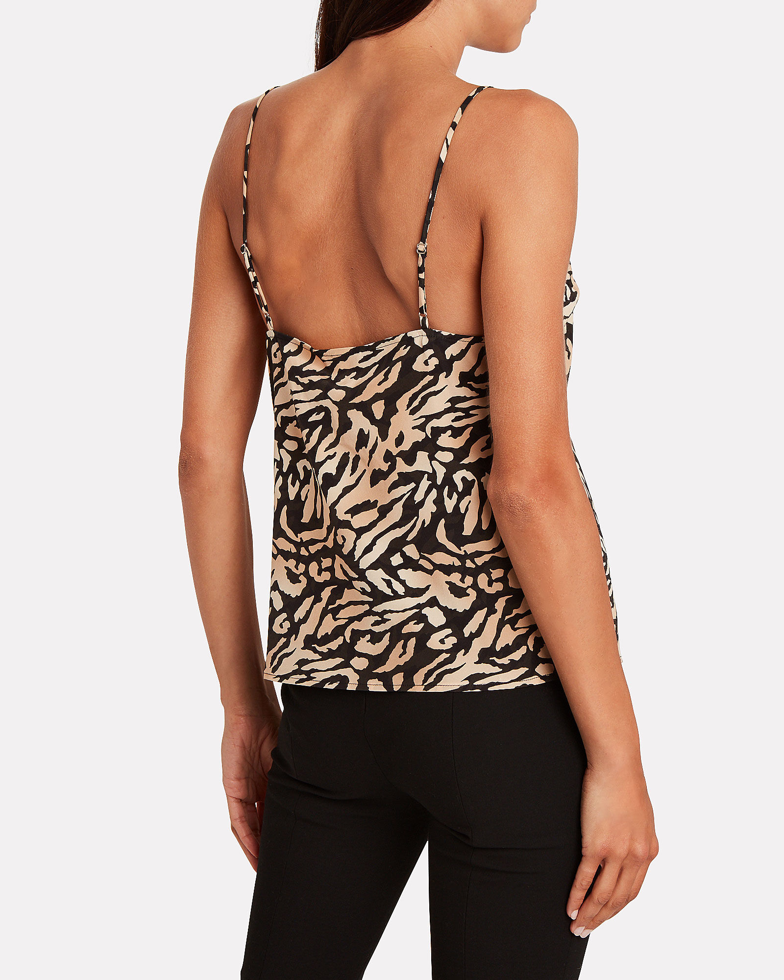 Lace-Trimmed Tiger Silk Camisole, MULTI, hi-res