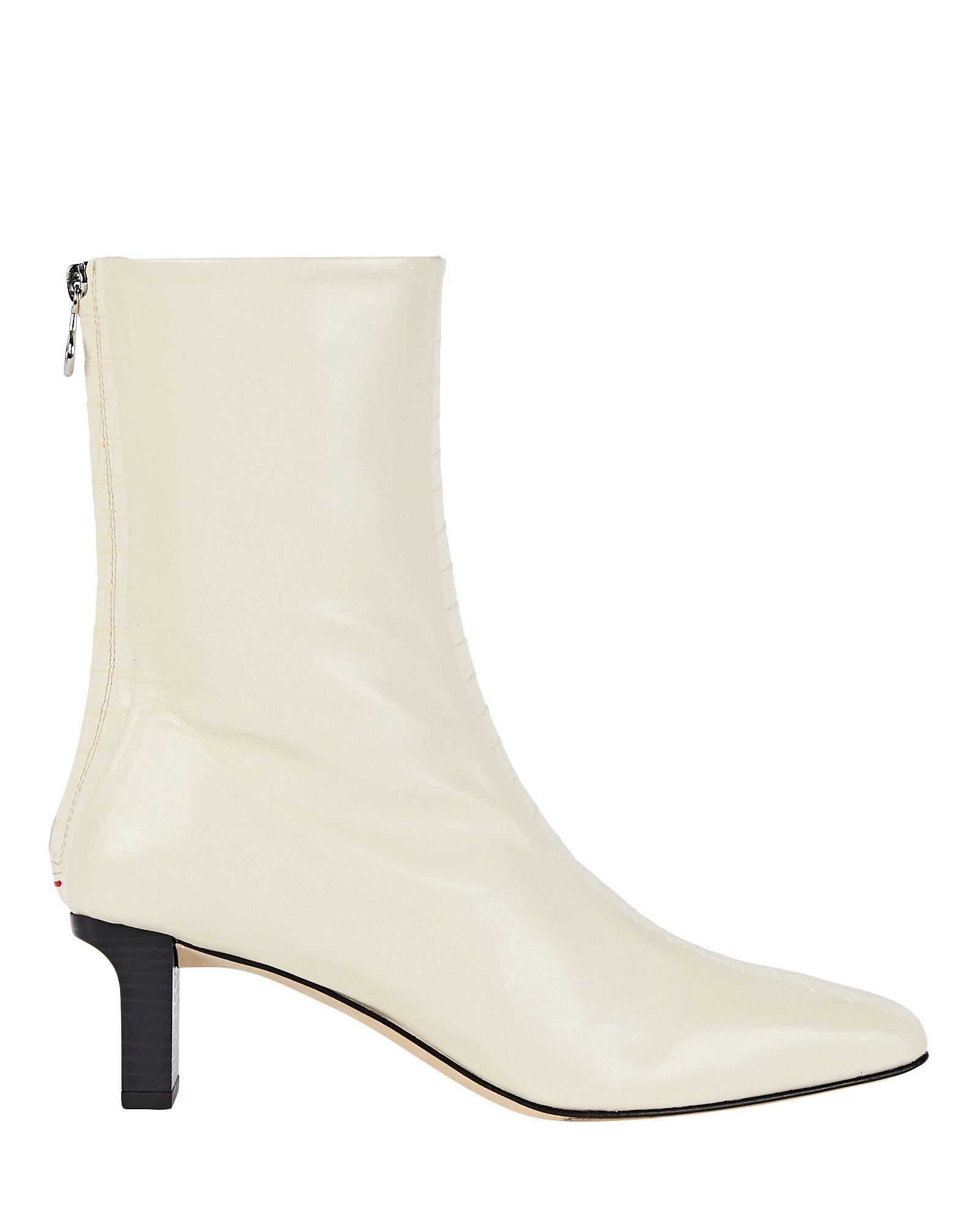 Molly Leather Ankle Booties, IVORY, hi-res