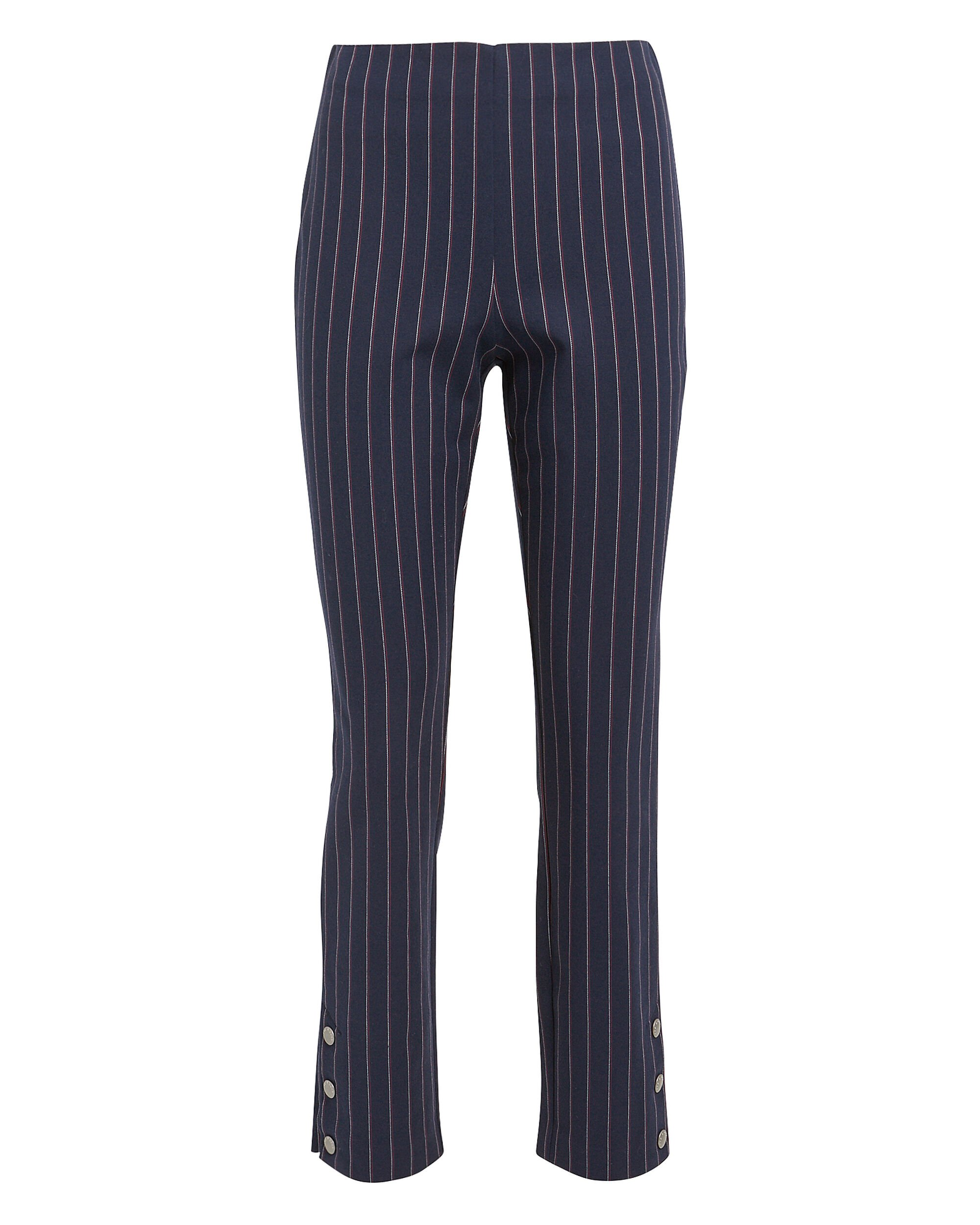 Simone Pinstriped Pants, NAVY/RED, hi-res