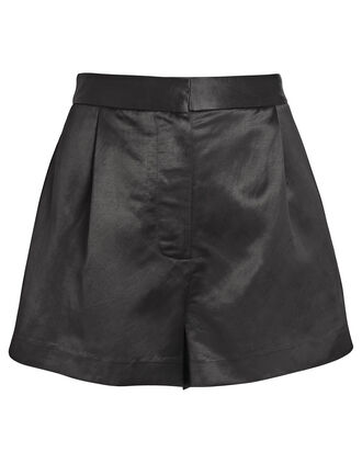 Eden Satin Shorts, BLACK, hi-res