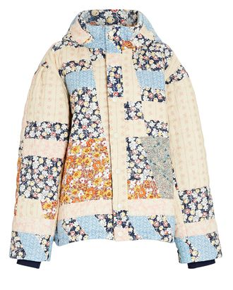 Sydney Quilted Patchwork Puffer Jacket, MULTI, hi-res
