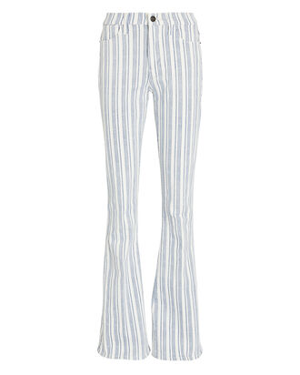 Le High Flare Striped Jeans, MULTI, hi-res