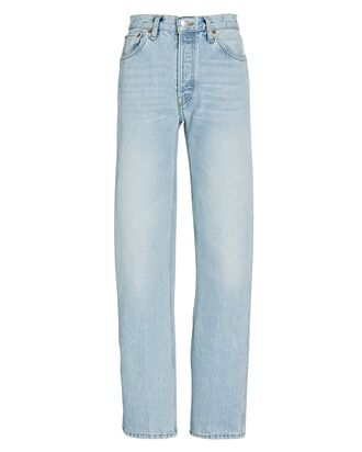 High-Rise Loose Straight Jeans, PERFECT LIGHT INDIGO, hi-res