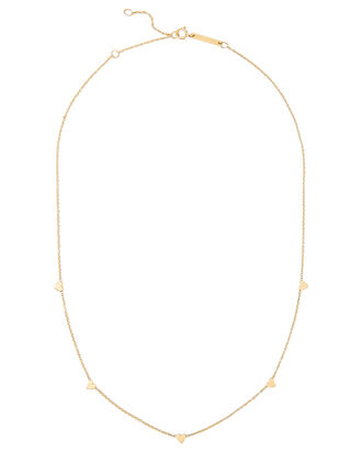 Itty Bitty Symbols Heart Necklace, GOLD, hi-res