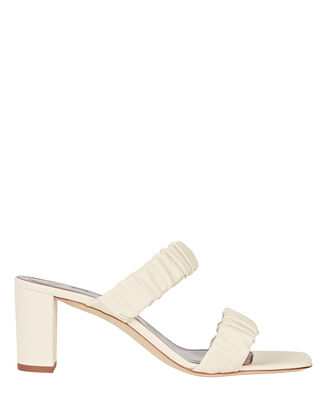 Frankie Leather Slide Sandals, IVORY, hi-res