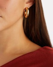Pompa Thick Oval Hoop Earrings, GOLD, hi-res