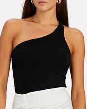 Driss One-Shoulder Tank Top, BLACK, hi-res