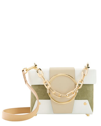 Asher Leather And Suede Bag, GREEN, hi-res