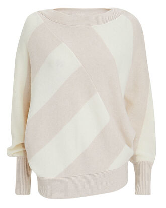 Bixby Stripe Sweater, IVORY/BEIGE, hi-res