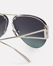 Rimless Pilot Aviator Sunglasses, GREY, hi-res
