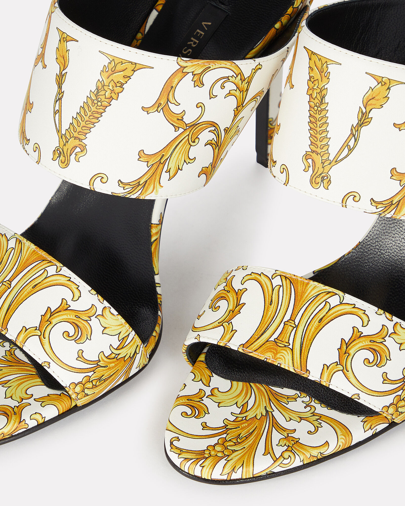 Western Barocco Sandals, WHITE/GOLD, hi-res