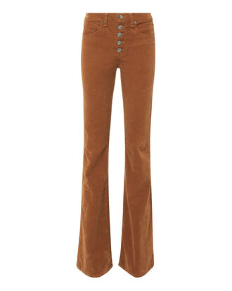 Beverly Corduroy Flare Pants, ORANGE, hi-res